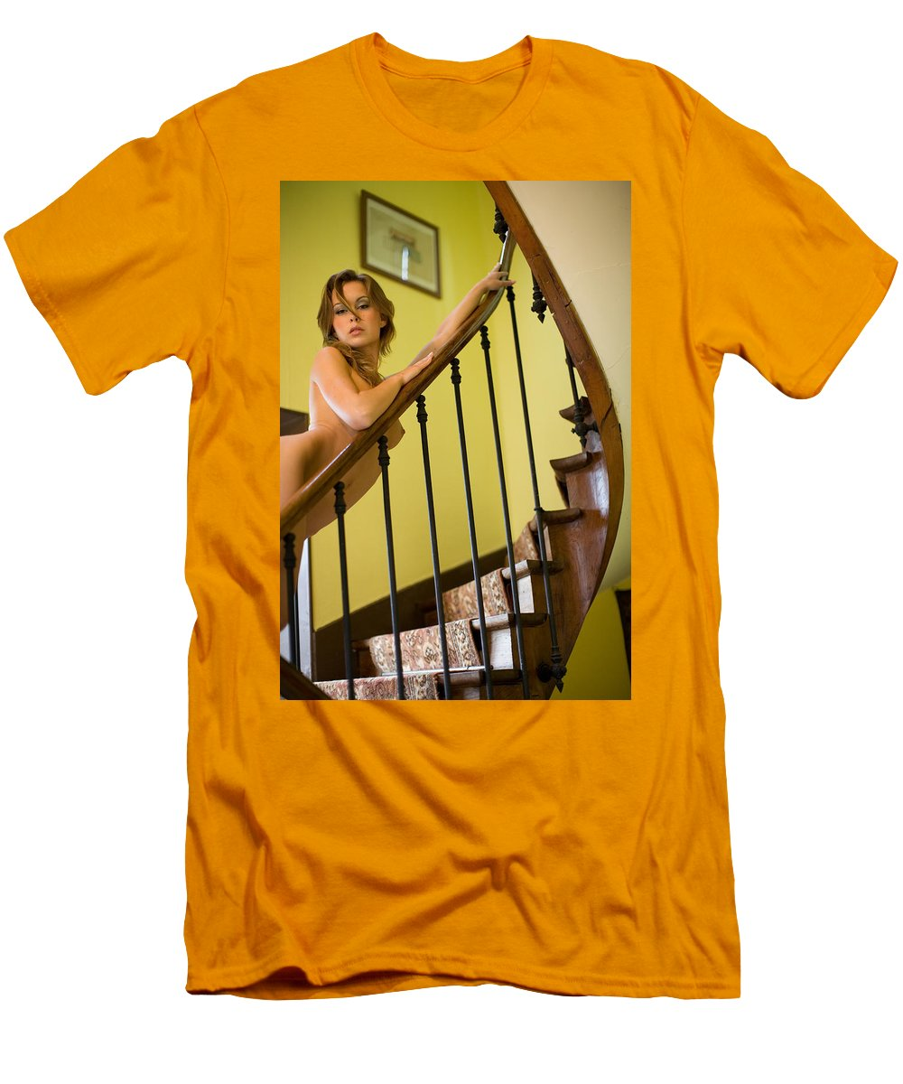 Sensual Men's T-Shirt (Athletic Fit) featuring the photograph Marie by Olivier De Rycke