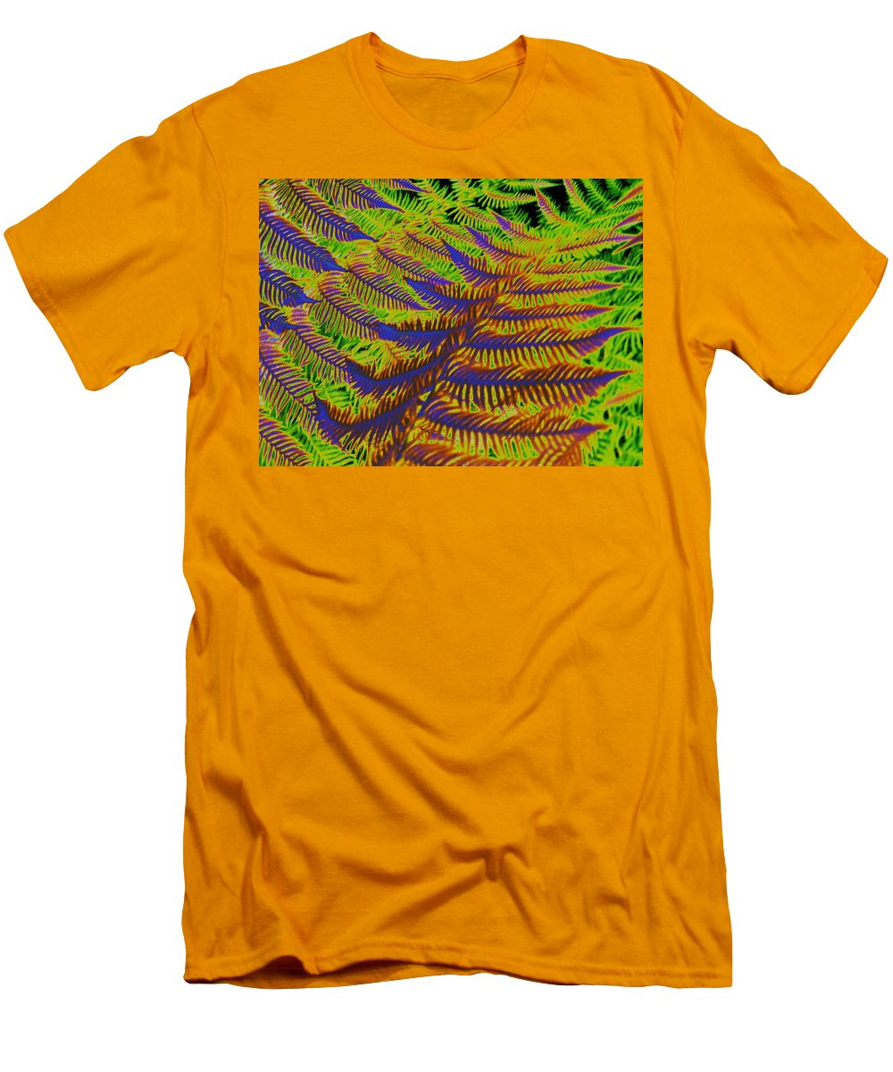 Fern Men's T-Shirt (Athletic Fit) featuring the photograph Mystic Fern by Tim Allen