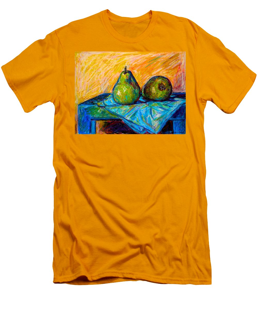 Still Life Men's T-Shirt (Athletic Fit) featuring the painting Other Pears by Kendall Kessler