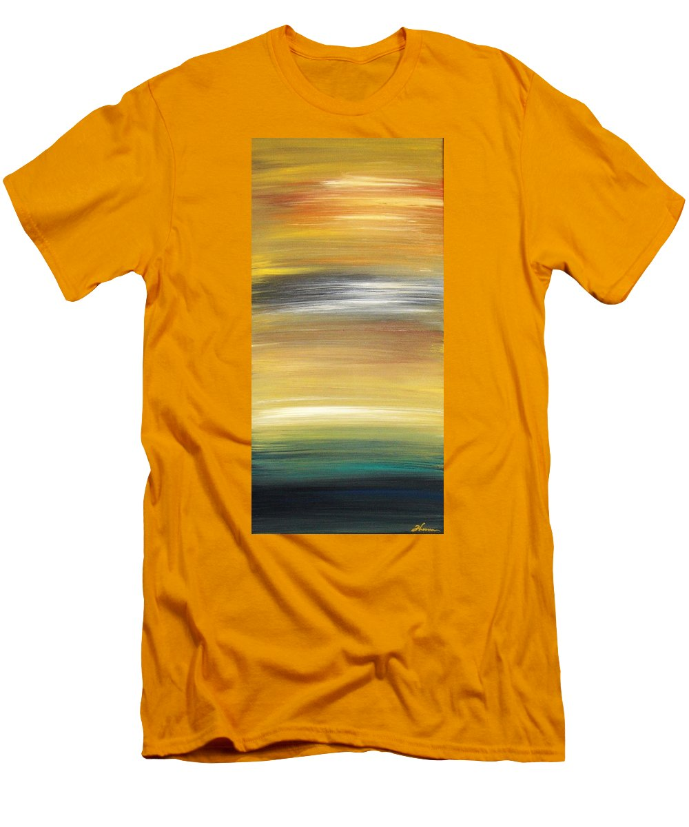 Waves Men's T-Shirt (Athletic Fit) featuring the painting Pond by Todd Hoover