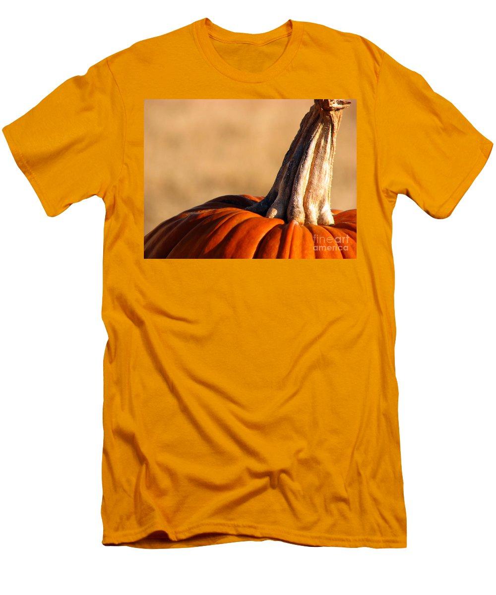 Pumpkins Men's T-Shirt (Athletic Fit) featuring the photograph Pumpkin by Amanda Barcon