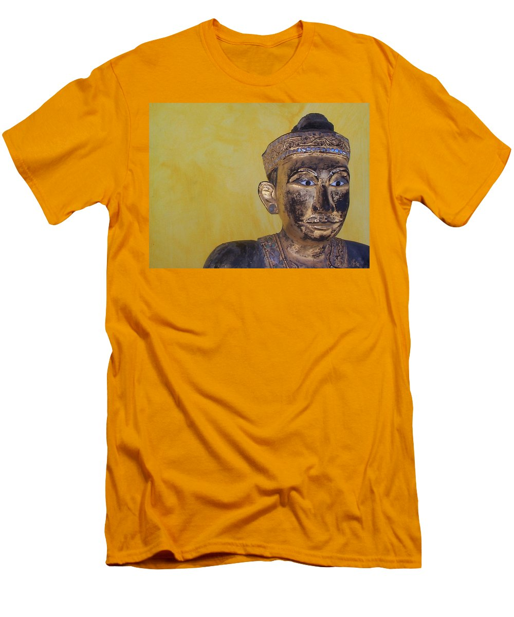 Charity Men's T-Shirt (Athletic Fit) featuring the photograph Statue by Mary-Lee Sanders