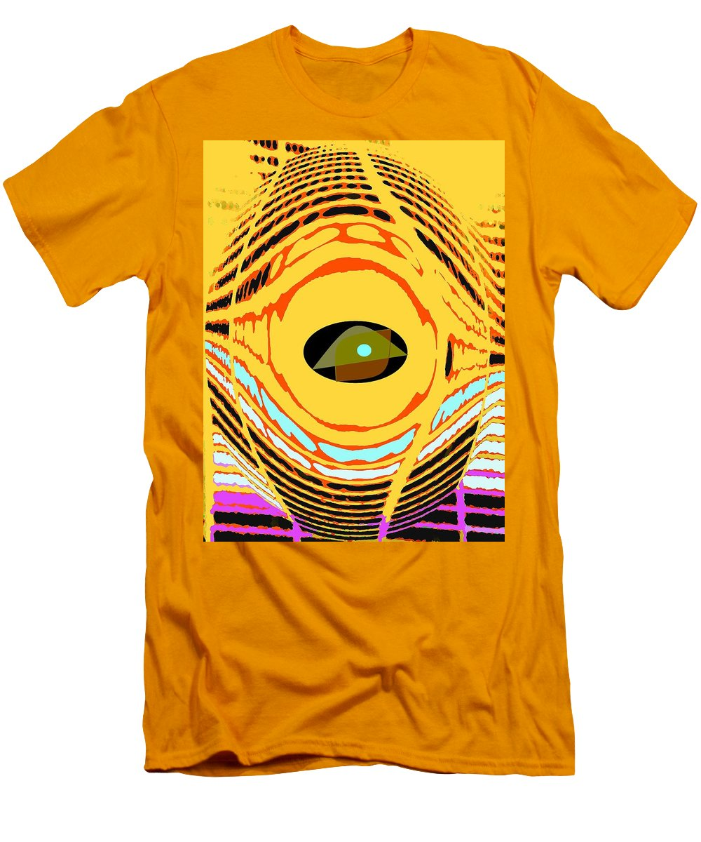 Yellow Men's T-Shirt (Athletic Fit) featuring the photograph Structure In Perspective by Ian MacDonald