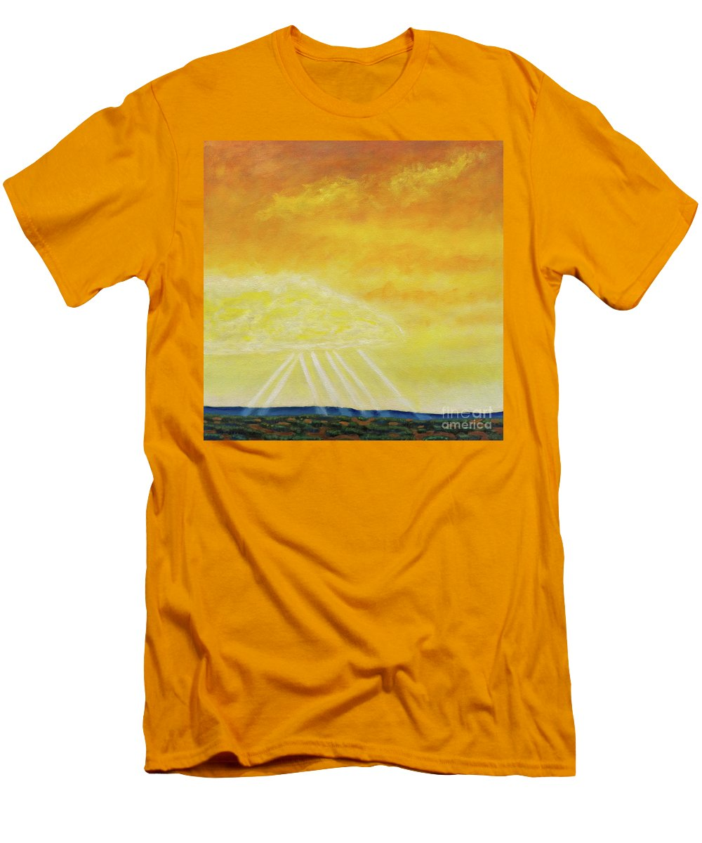 Landscape Men's T-Shirt (Athletic Fit) featuring the painting Super Seven by Brian Commerford