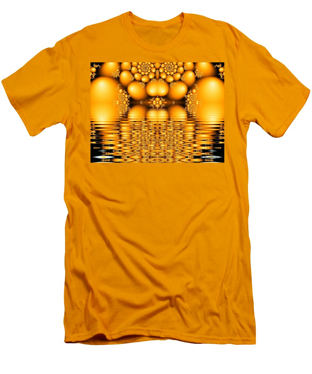 Tangerine Orange Water Sacred Tears Men's T-Shirt (Athletic Fit) featuring the digital art Tangerine Tears by Veronica Jackson