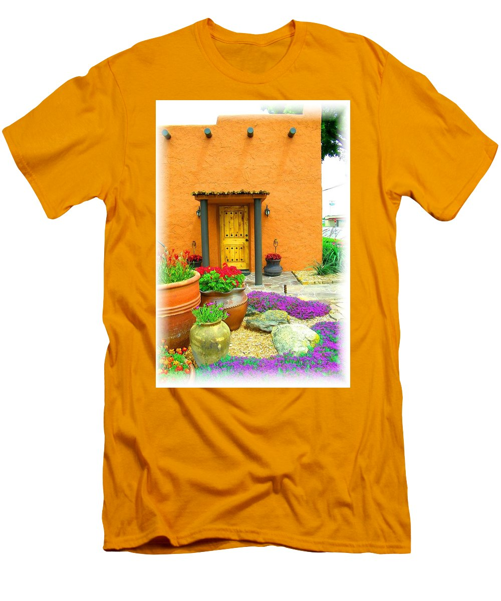 Adobe Men's T-Shirt (Athletic Fit) featuring the photograph Texas Fiesta-style by Gale Cochran-Smith