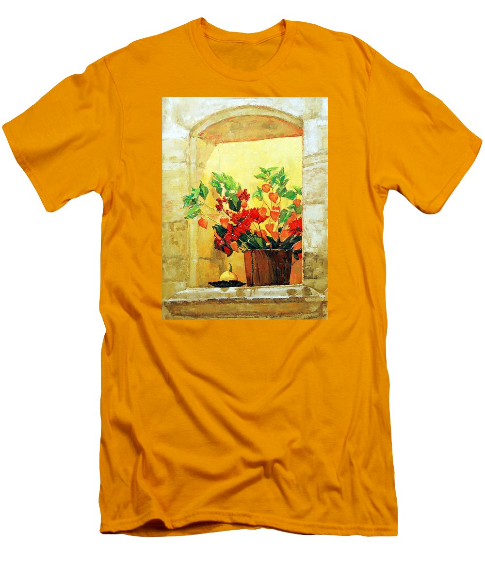 Still Life Men's T-Shirt (Athletic Fit) featuring the painting The Light by Iliyan Bozhanov