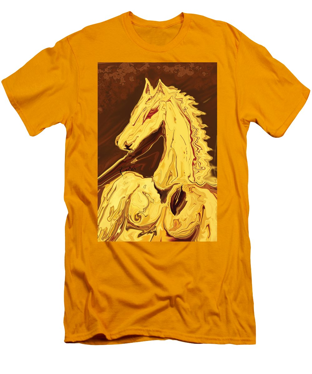 Brown Men's T-Shirt (Athletic Fit) featuring the digital art The Race by Rabi Khan