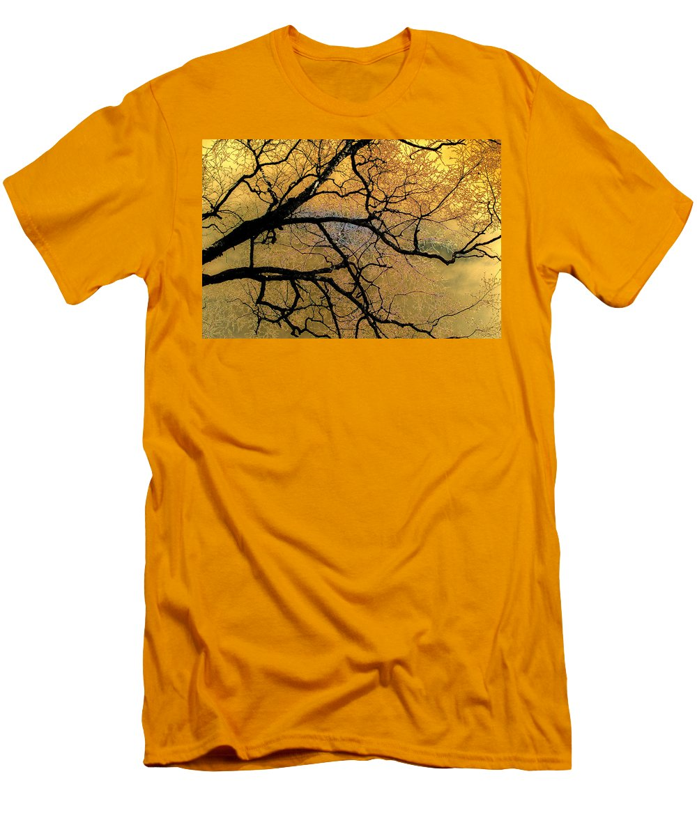 Scenic Men's T-Shirt (Athletic Fit) featuring the photograph Tree Fantasy 7 by Lee Santa