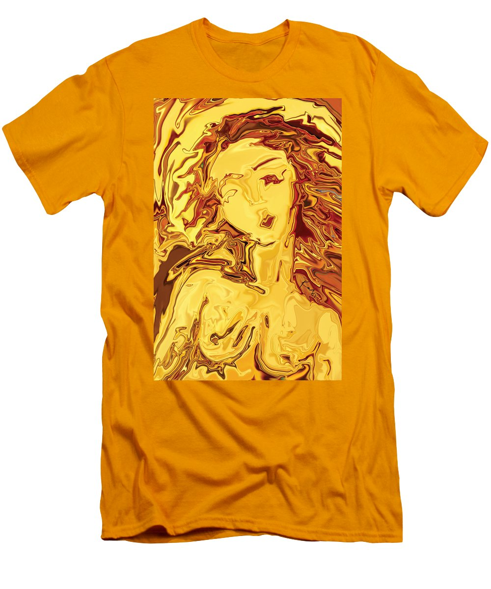 Men's T-Shirt (Athletic Fit) featuring the digital art Venus 2008 by Rabi Khan