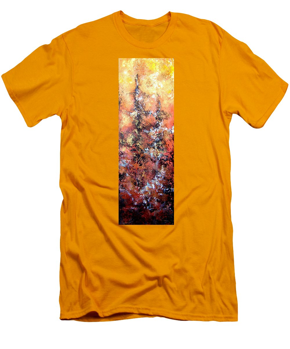 Tile Men's T-Shirt (Athletic Fit) featuring the painting Wait For Sleep by Shadia Derbyshire