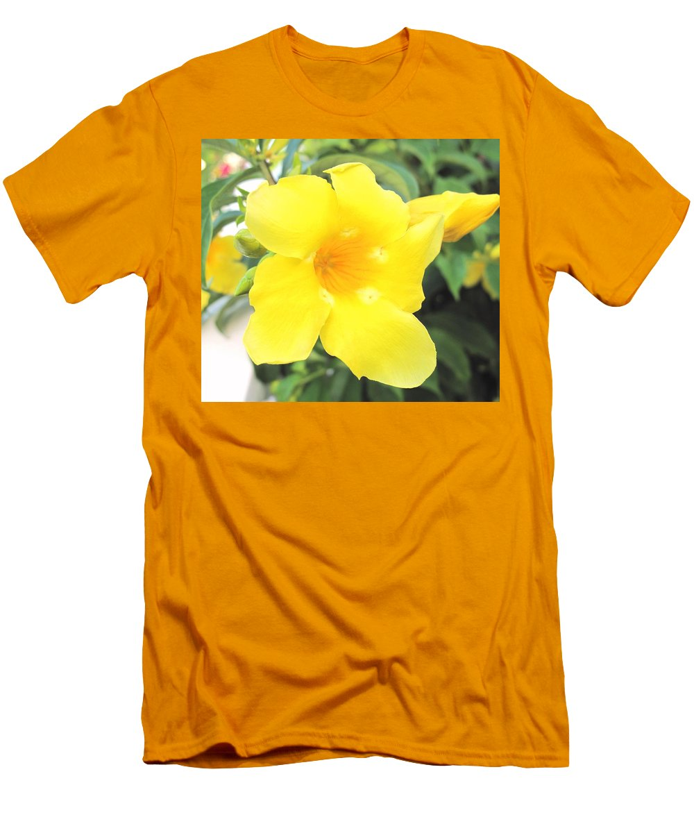 Yellow Men's T-Shirt (Athletic Fit) featuring the photograph Yellow Hibiscus St Kitts by Ian MacDonald