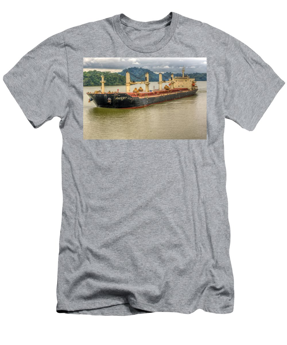 Business Men's T-Shirt (Athletic Fit) featuring the photograph Avocet In The Panama Canal by John Trax