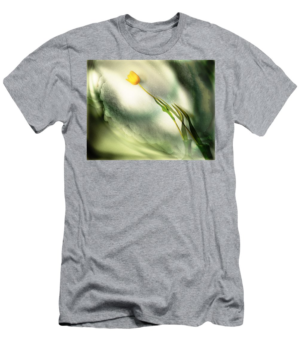 Flowers Men's T-Shirt (Athletic Fit) featuring the photograph Reflection by John Anderson