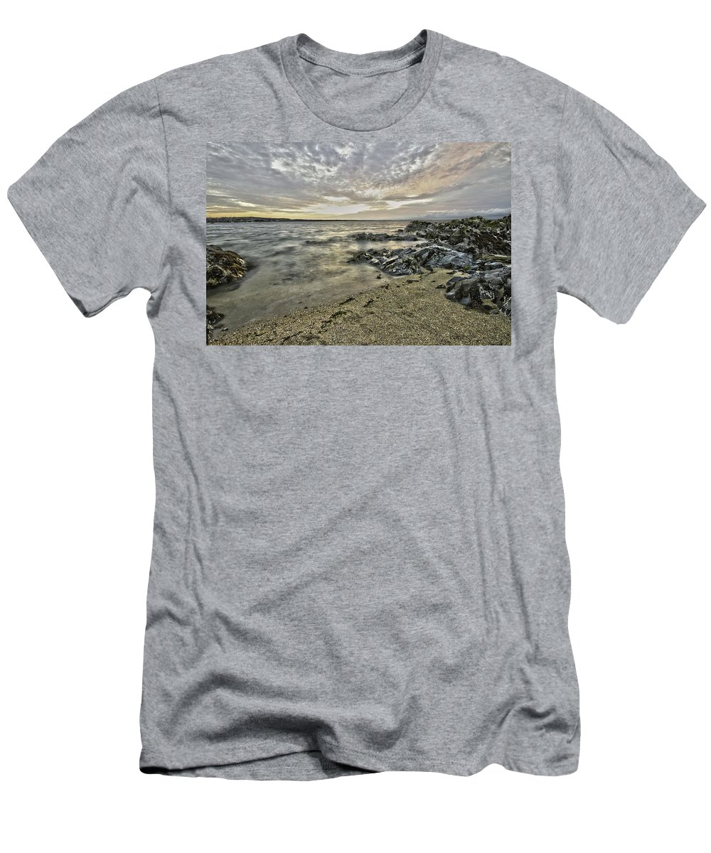 Sky Men's T-Shirt (Athletic Fit) featuring the photograph Skerries Ocean View by Martina Fagan