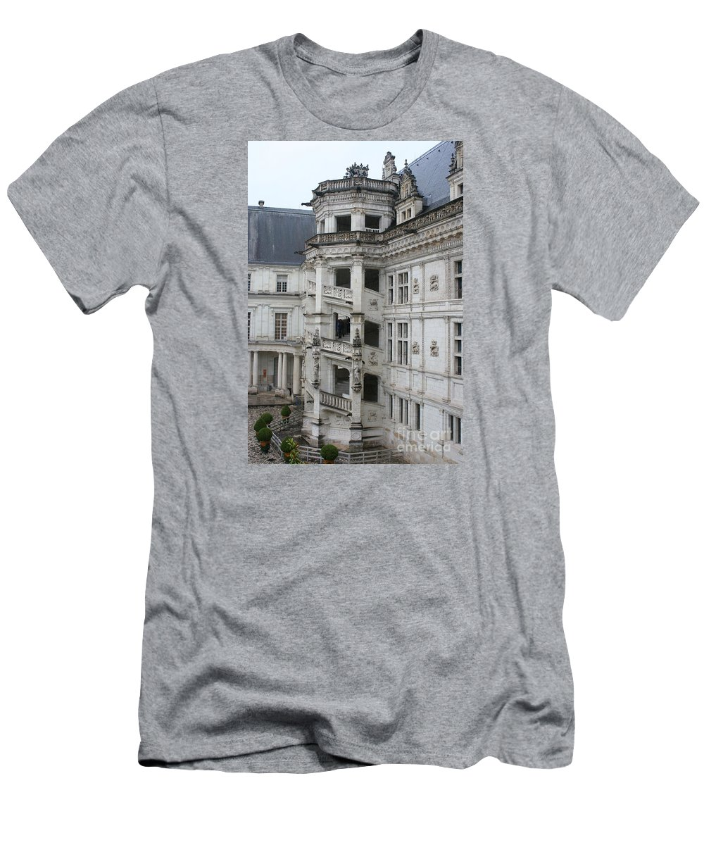 Stairs T-Shirt featuring the photograph Spiral Staircase In The Francois I Wing - Chateau Blois by Christiane Schulze Art And Photography