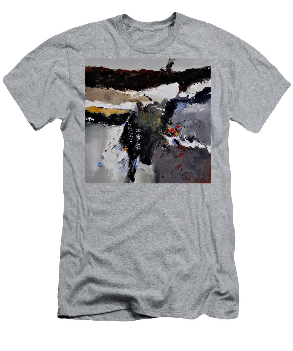Abstract Men's T-Shirt (Athletic Fit) featuring the painting Abstract 8831803 by Pol Ledent