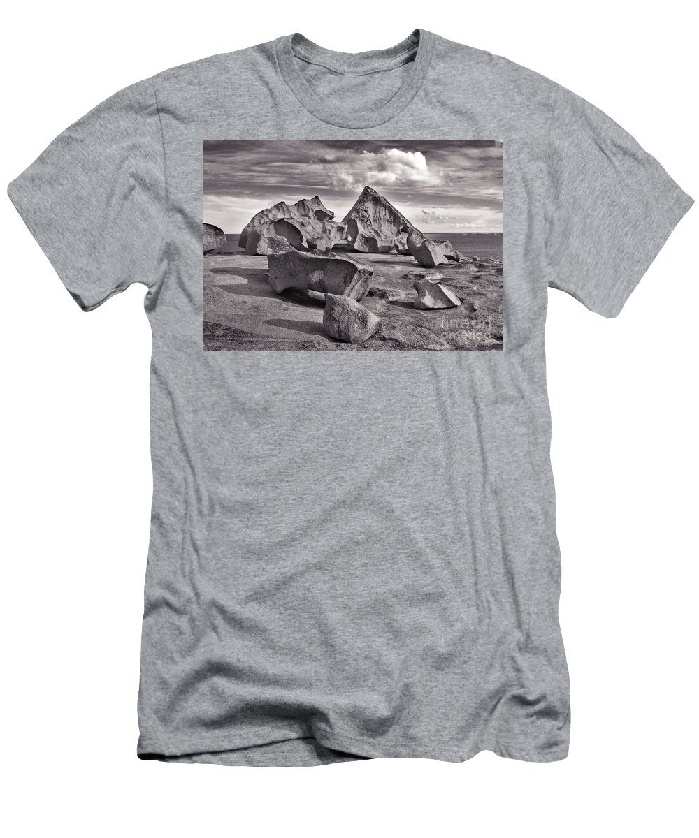 Rock Men's T-Shirt (Athletic Fit) featuring the photograph Alien Furniture by Stephen Mitchell