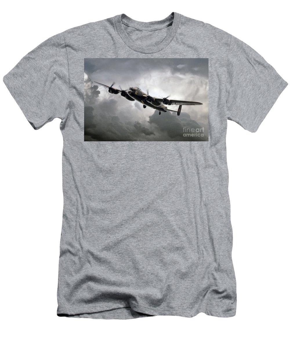 Avro Men's T-Shirt (Athletic Fit) featuring the digital art Avro Lancaster by J Biggadike