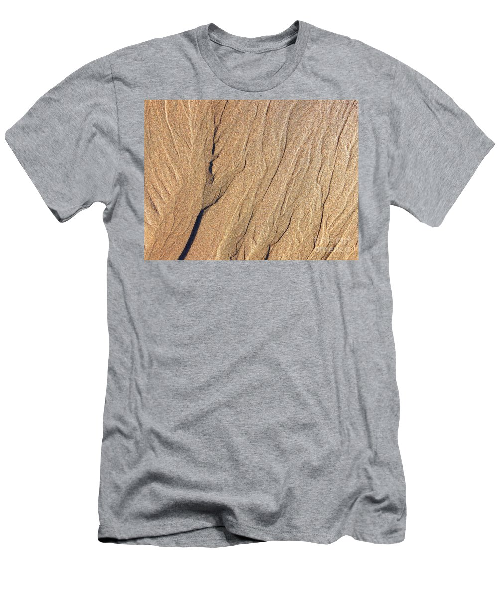 Sand Men's T-Shirt (Athletic Fit) featuring the photograph Beachwalk by Kris Hiemstra