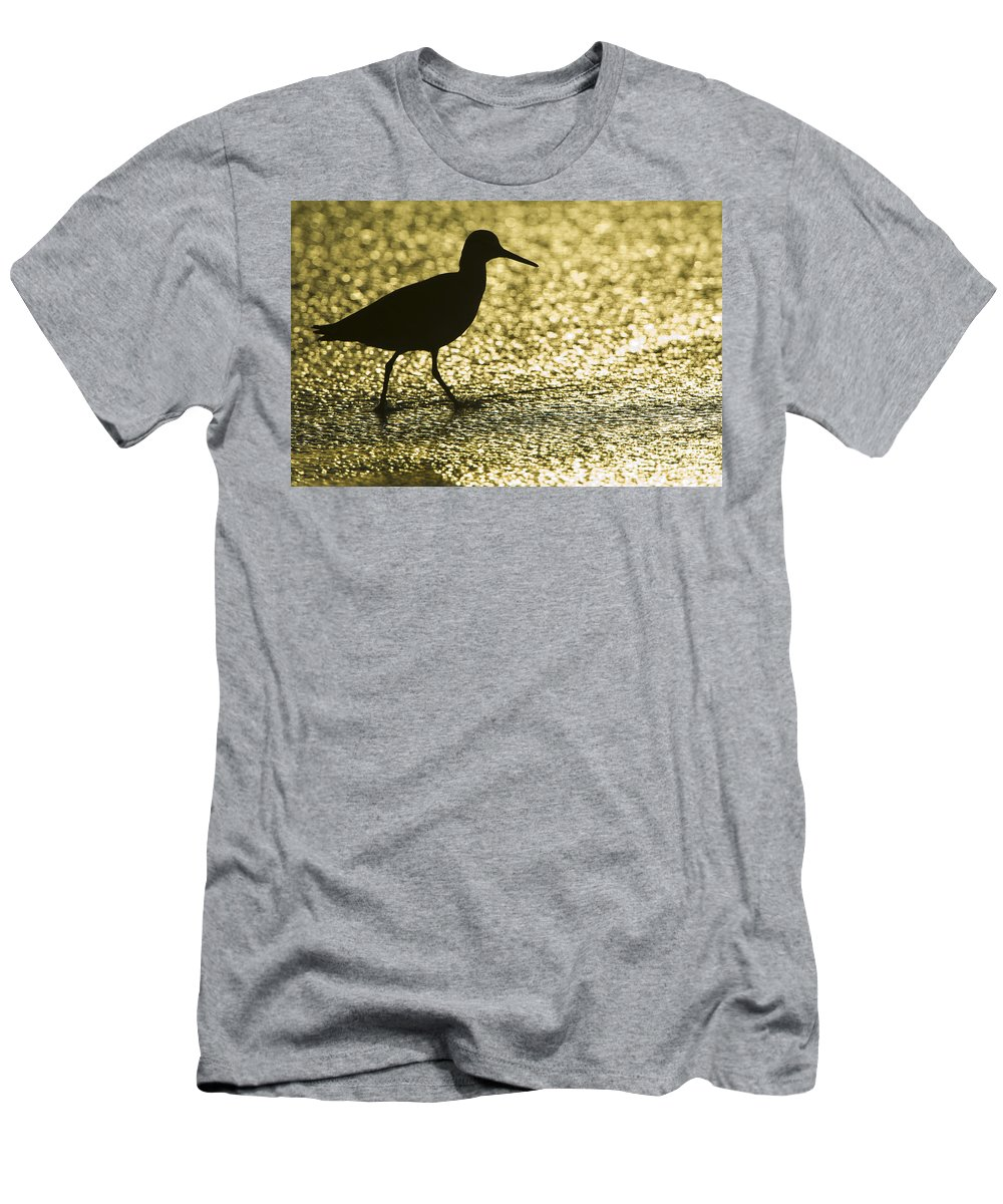 Nature Men's T-Shirt (Athletic Fit) featuring the photograph Bird Silhouette by John Shaw