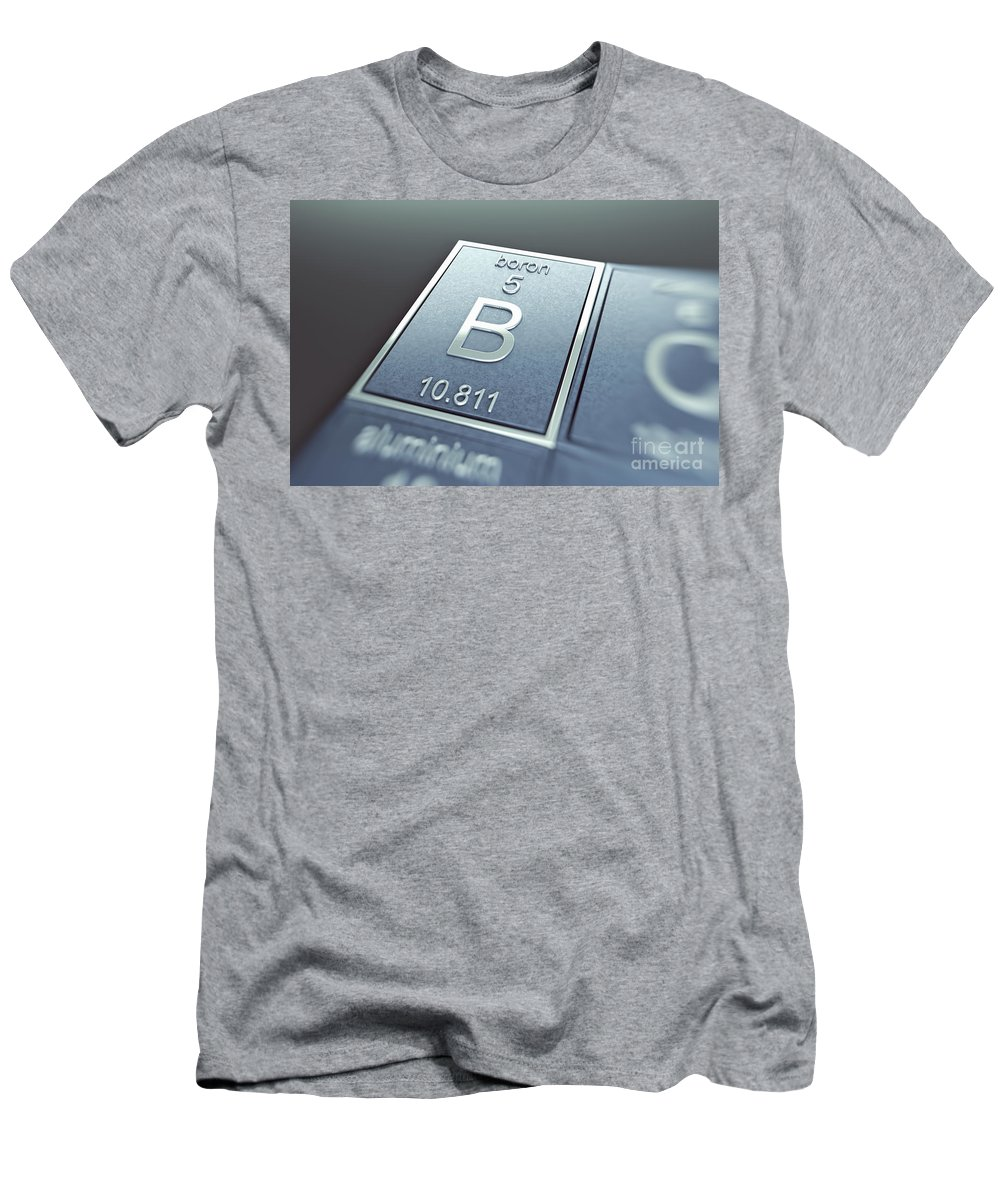 Atomic Number Men's T-Shirt (Athletic Fit) featuring the photograph Boron Chemical Element by Science Picture Co