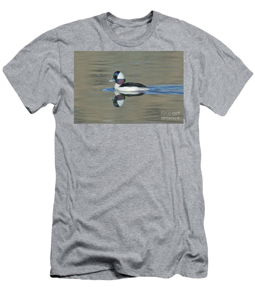 Bufflehead Men's T-Shirt (Athletic Fit) featuring the photograph Bufflehead Drake by Anthony Mercieca