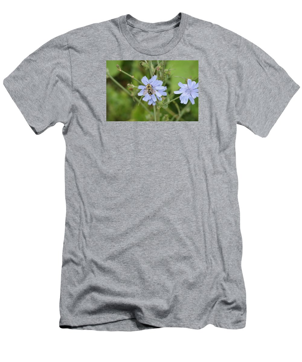 Flower Men's T-Shirt (Athletic Fit) featuring the photograph Bumble Bee by Heidi Poulin