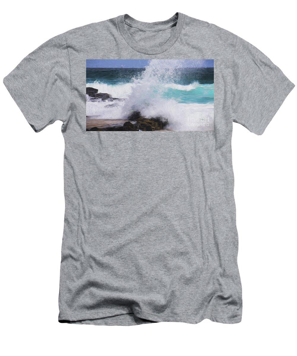 Surf T-Shirt featuring the photograph Crash by Sheila Smart Fine Art Photography
