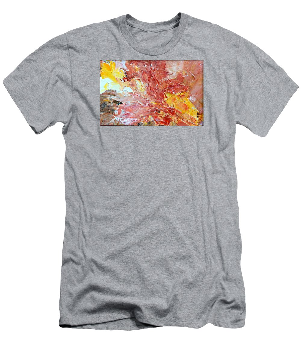 Abstract Men's T-Shirt (Athletic Fit) featuring the painting Endless Summer by Teresa Wegrzyn
