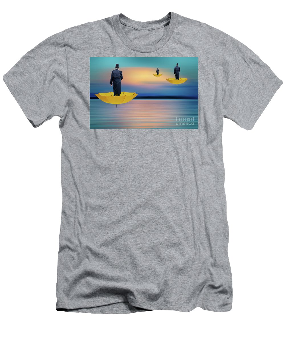 Pow Wow Men's T-Shirt (Athletic Fit) featuring the photograph Pow Wow Flight Of Fancy by Bob Christopher