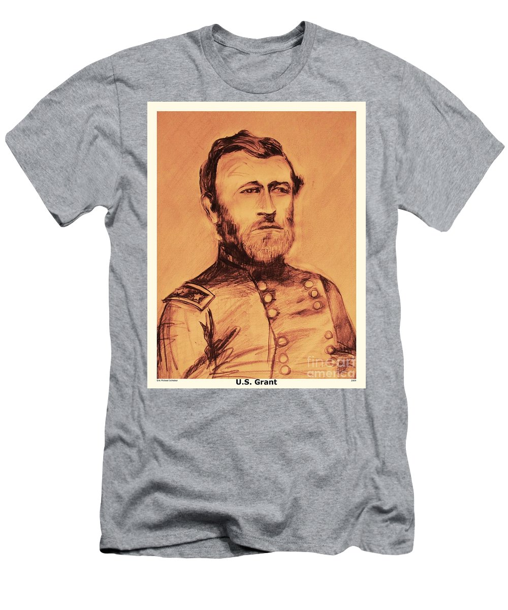 Grant Men's T-Shirt (Athletic Fit) featuring the painting General Us Grant by Eric Schiabor