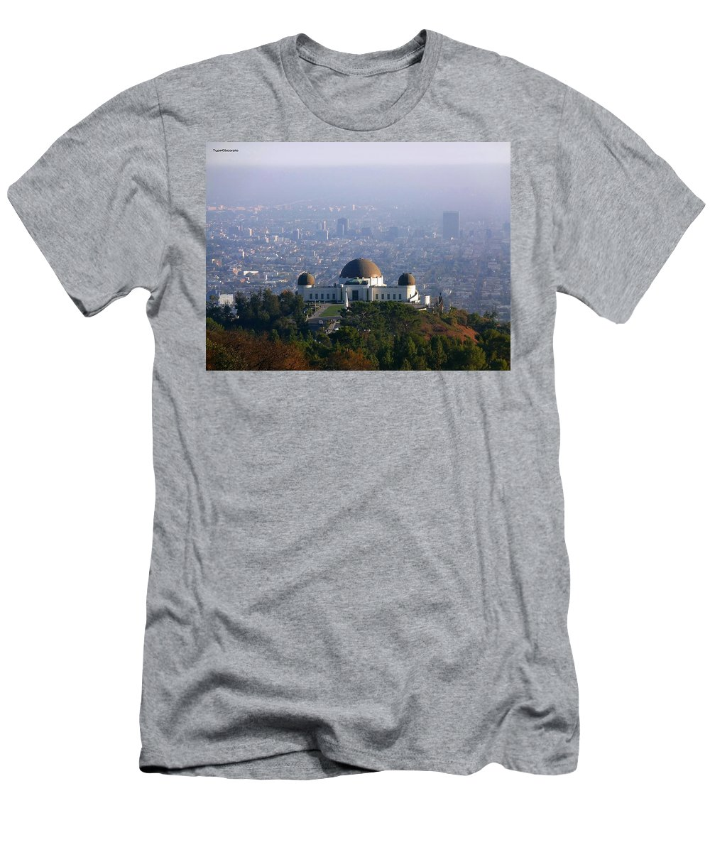 Griffith Observatory Men's T-Shirt (Athletic Fit) featuring the photograph Griffith Observatory by James Markey