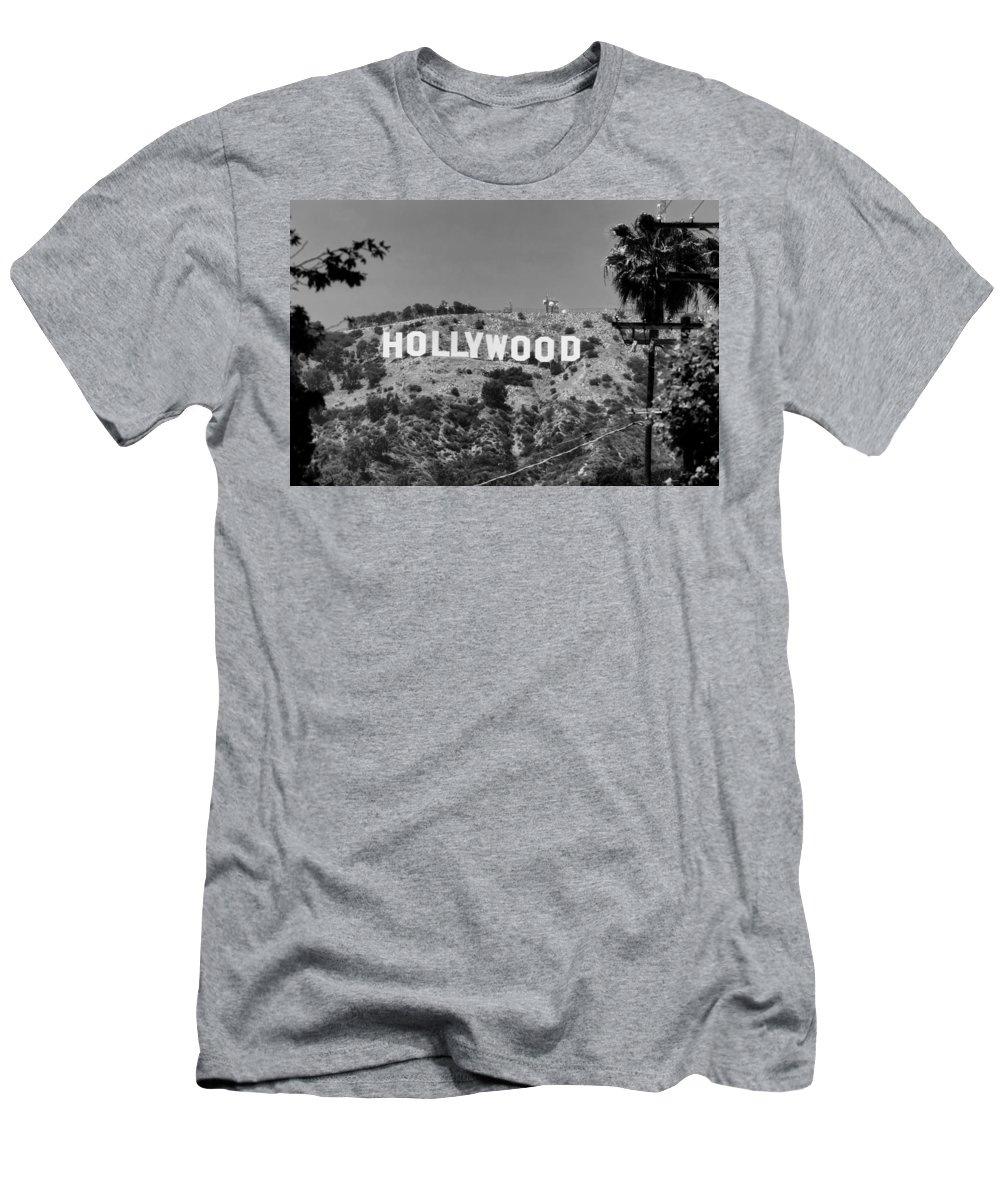Hollywood Men's T-Shirt (Athletic Fit) featuring the photograph Iconic Hollywood Sign by Mountain Dreams