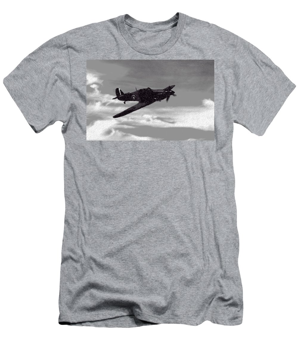 British Men's T-Shirt (Athletic Fit) featuring the mixed media Into The Storm by Roy Pedersen