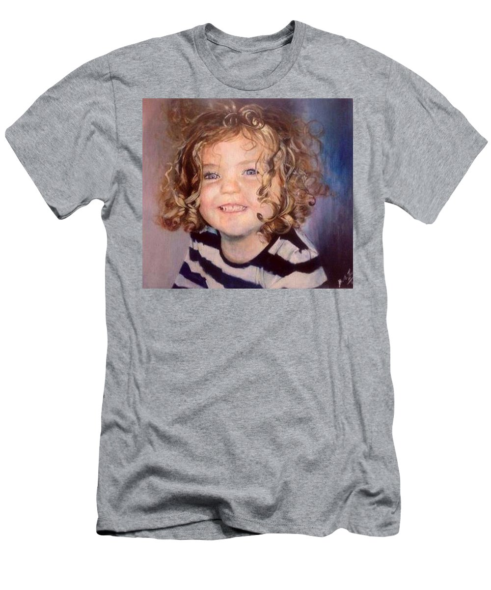 Toddler Men's T-Shirt (Athletic Fit) featuring the painting Irish Eyes by Siobhan Lewis