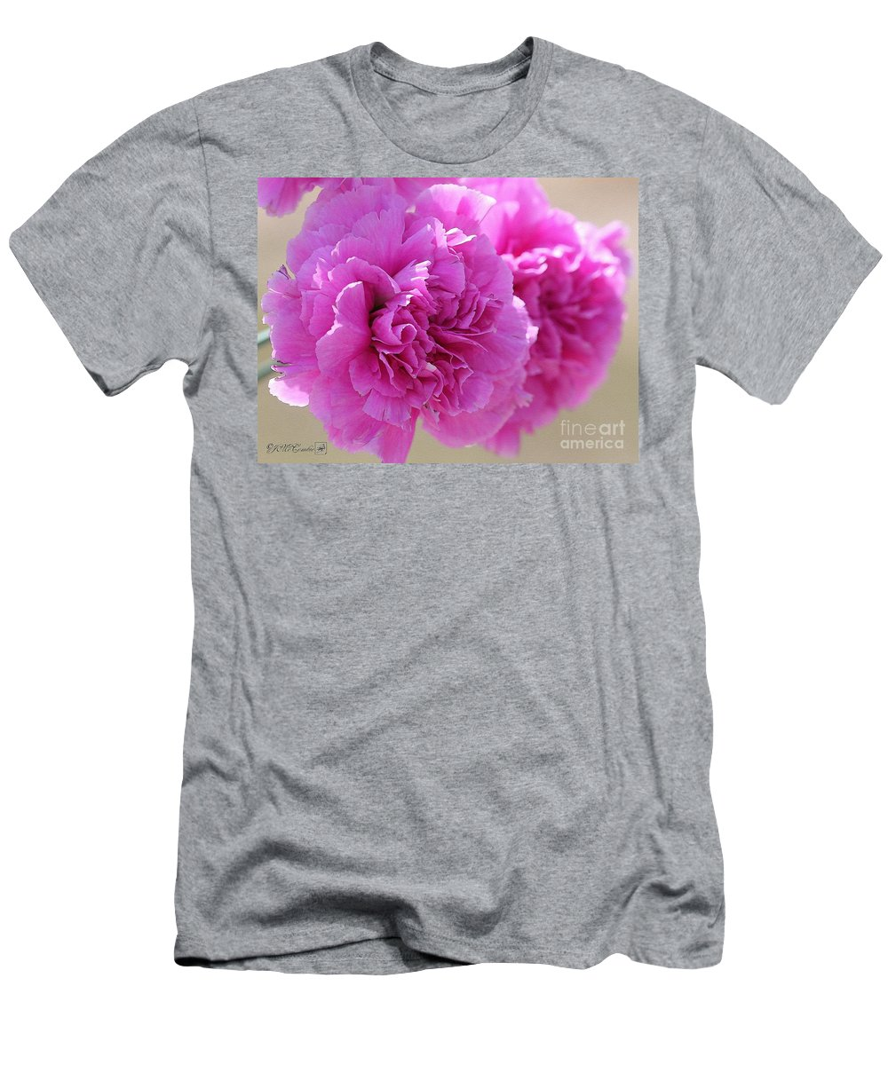 Mccombie Men's T-Shirt (Athletic Fit) featuring the painting Lavender Carnations by J McCombie