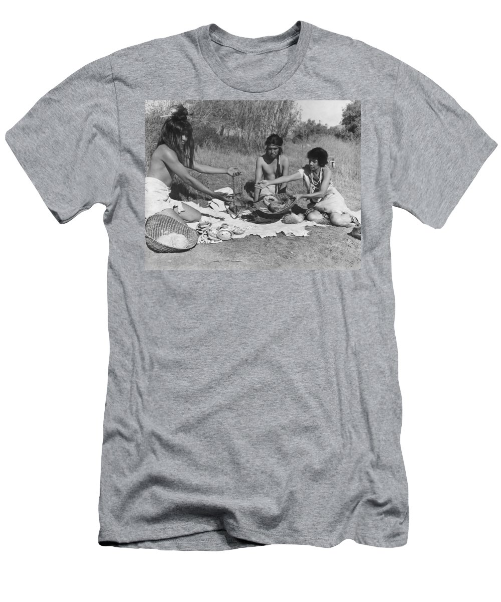 1920s Men's T-Shirt (Athletic Fit) featuring the photograph Native American Traders by Underwood Archives Onia