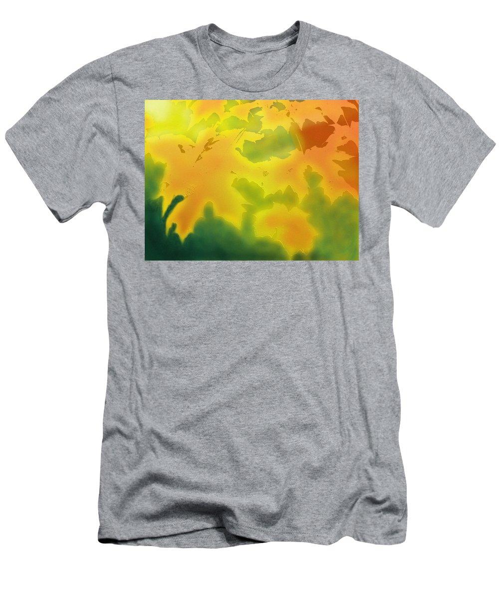 Fall Men's T-Shirt (Athletic Fit) featuring the digital art October by Ian MacDonald