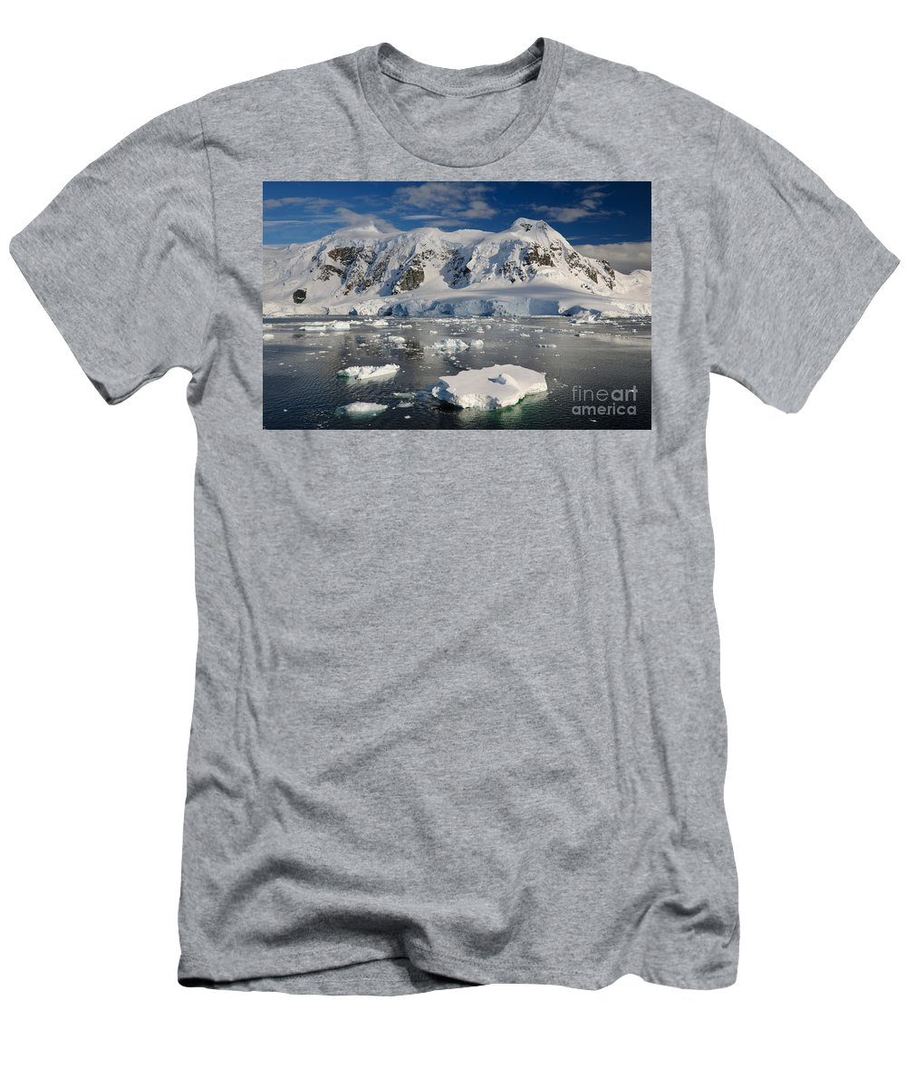 Nature Men's T-Shirt (Athletic Fit) featuring the photograph Paradise Bay, Antarctica by John Shaw