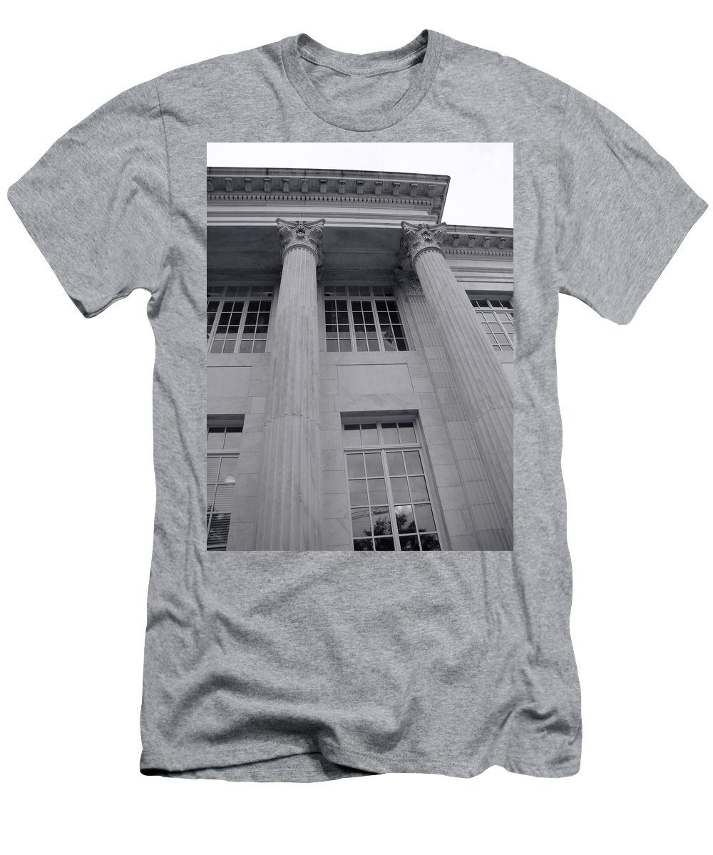 Men's T-Shirt (Athletic Fit) featuring the photograph Pillars And Windows by Cathy Anderson