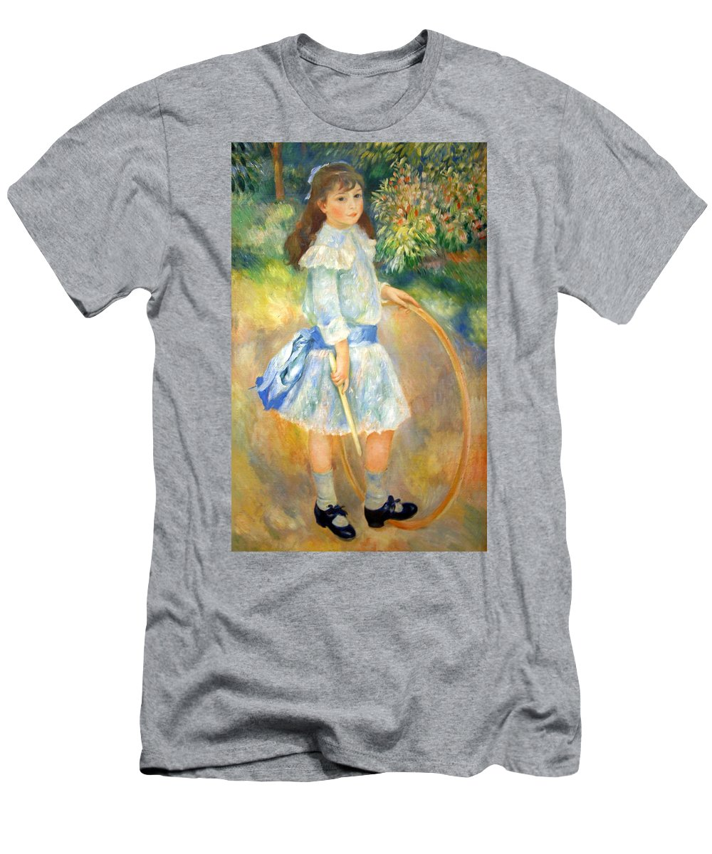 Girl Men's T-Shirt (Athletic Fit) featuring the photograph Renoir's Girl With A Hoop by Cora Wandel