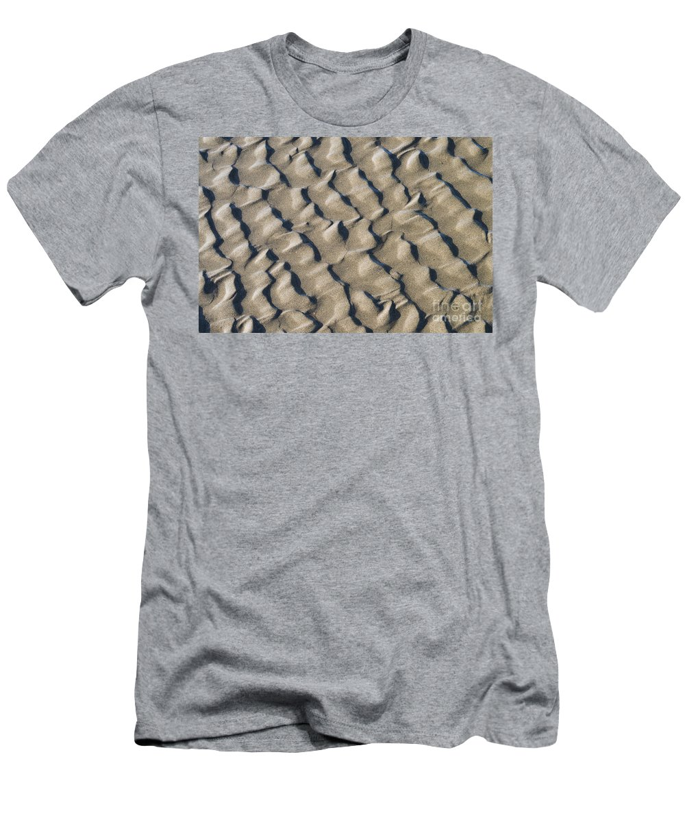 Nature Men's T-Shirt (Athletic Fit) featuring the photograph Ripple Pattern On Mudflat At Low Tide by John Shaw