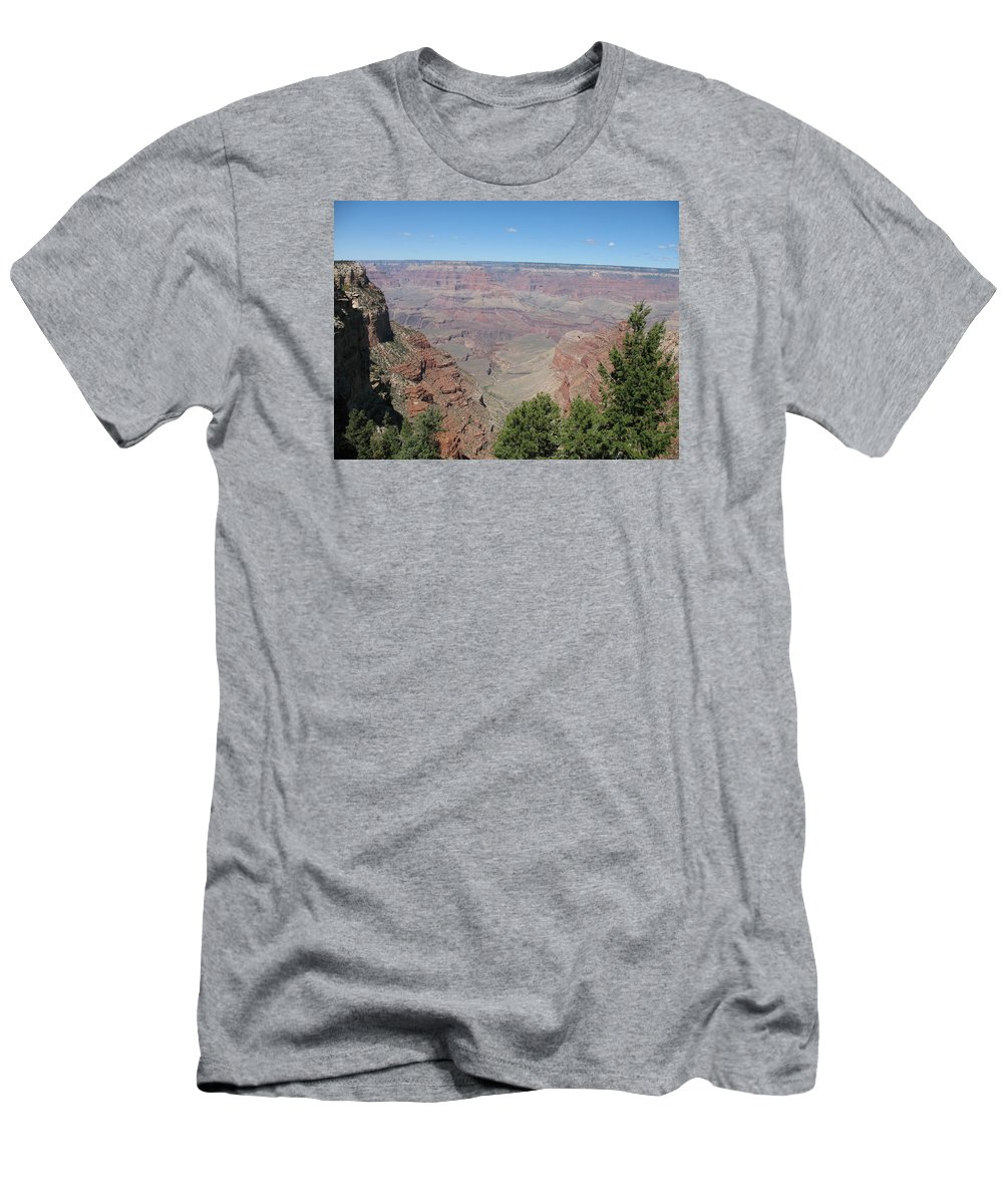 Canyon Men's T-Shirt (Athletic Fit) featuring the photograph Scenic View - Grand Canyon by Christiane Schulze Art And Photography