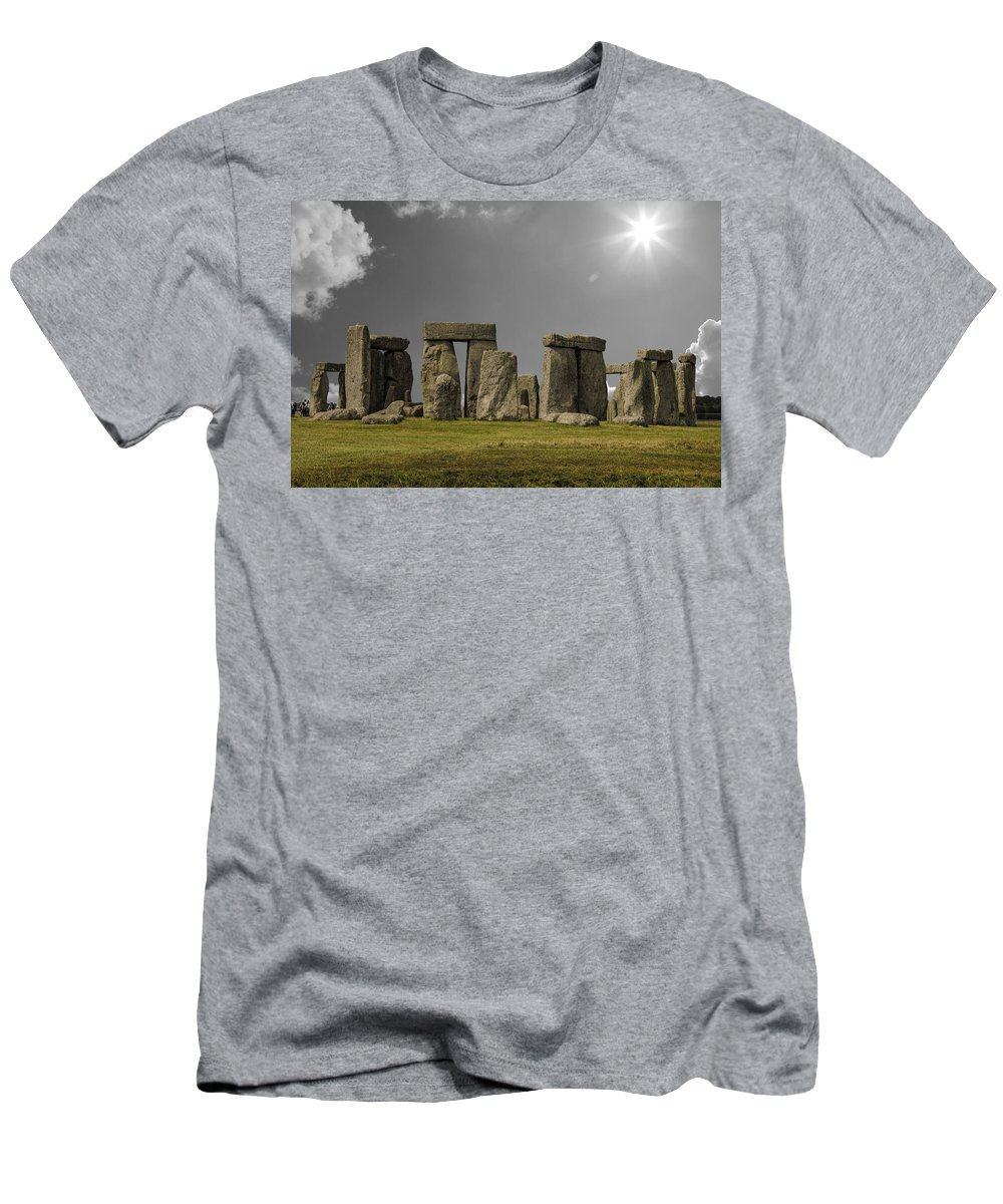 Stonehenge Men's T-Shirt (Athletic Fit) featuring the photograph Stonehenge by Martin Newman