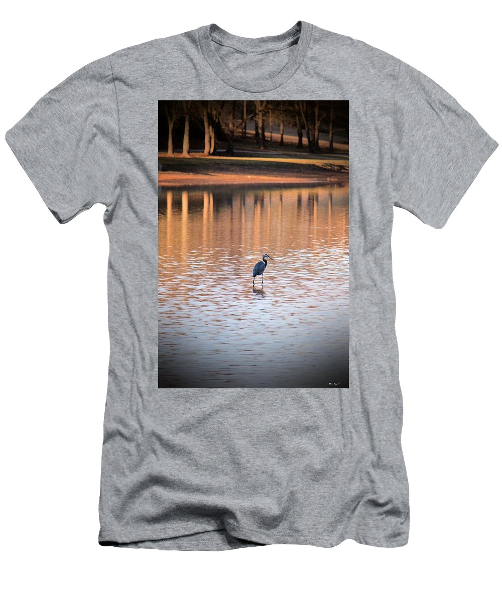Sunset On The Lake Men's T-Shirt (Athletic Fit) featuring the photograph Sunset On The Lake by Maria Urso