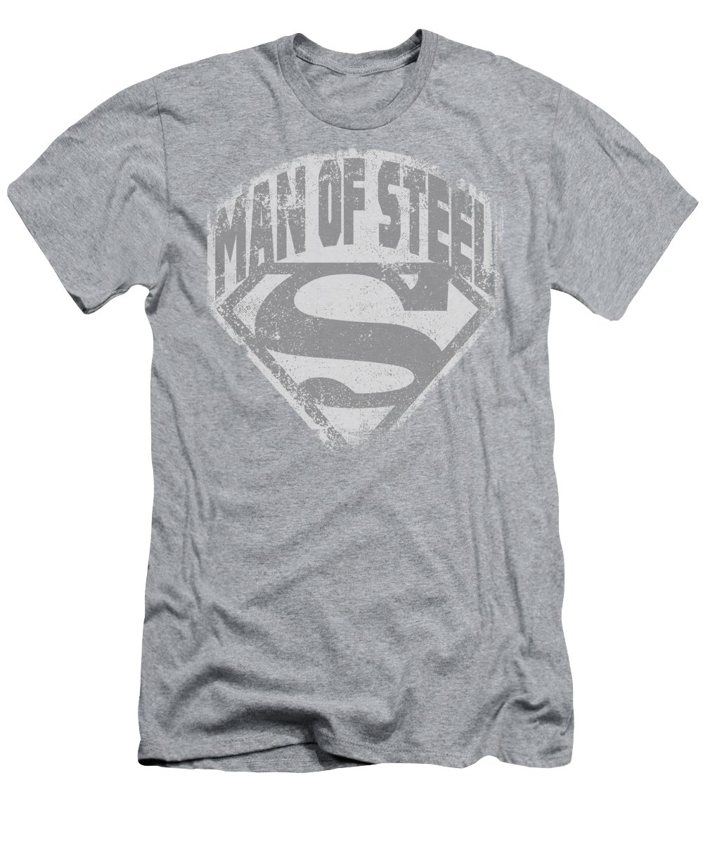 Superman T-Shirt featuring the digital art Superman - Man Of Steel Shield by Brand A