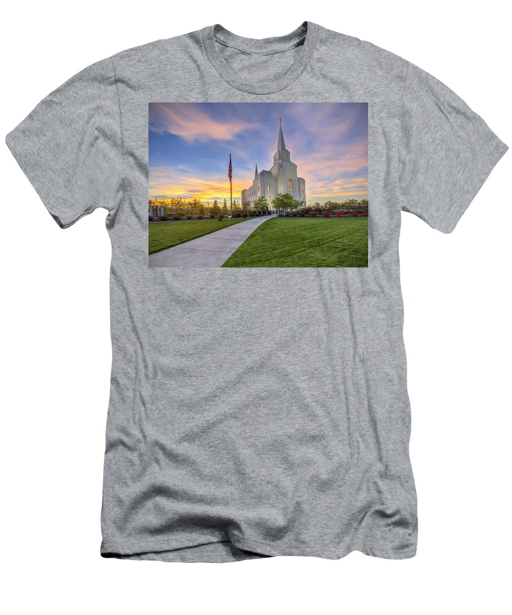 Utah Men's T-Shirt (Athletic Fit) featuring the photograph The Chosen Path by Dustin LeFevre