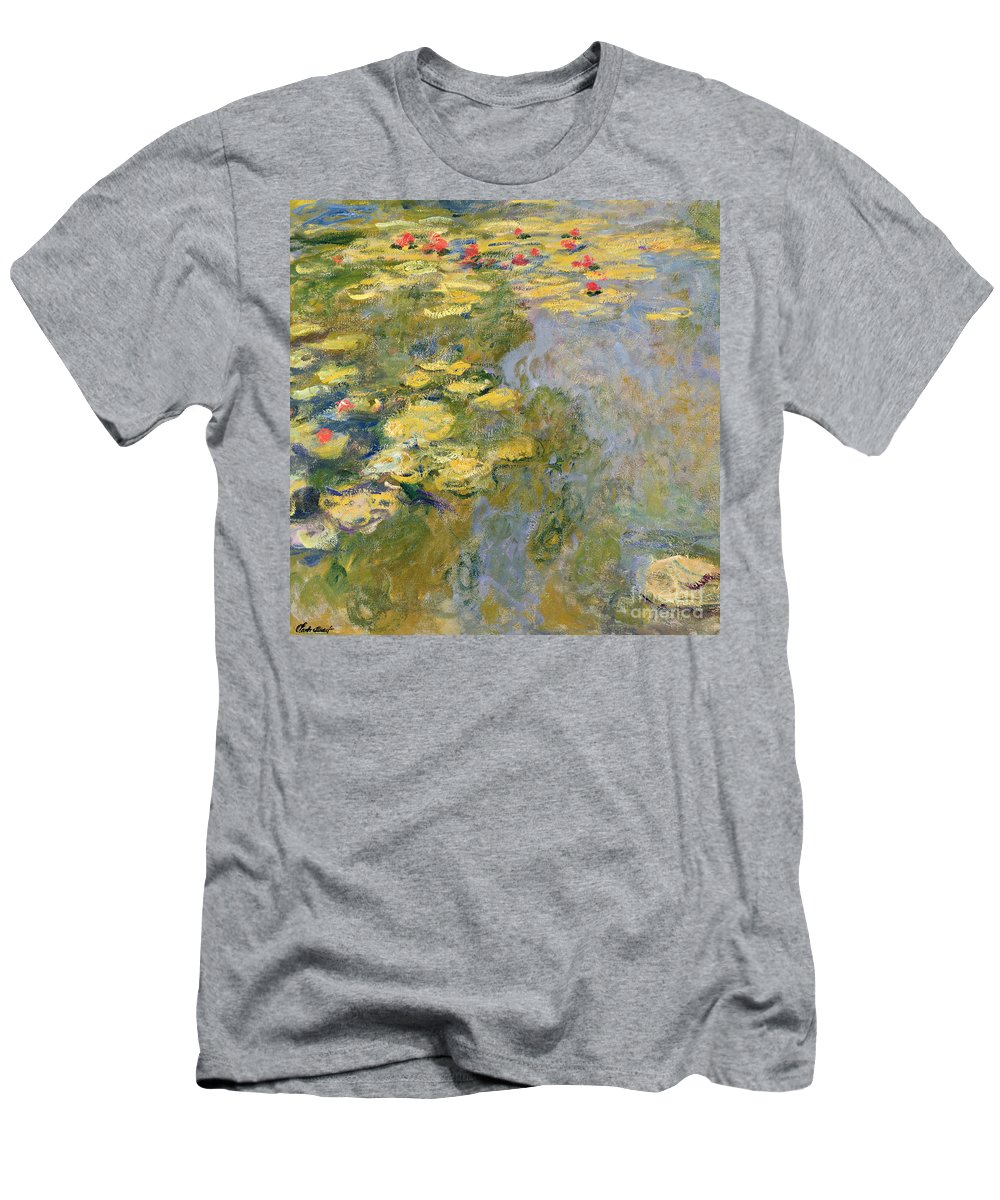 Impressionist T-Shirt featuring the painting The Waterlily Pond by Claude Monet