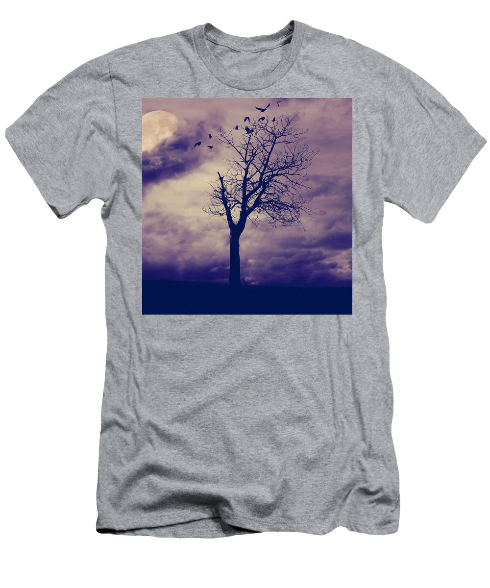 Trees Men's T-Shirt (Athletic Fit) featuring the photograph Three Am by The Artist Project